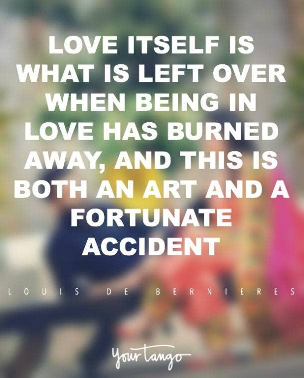 Louis de Bernières romantic love quote