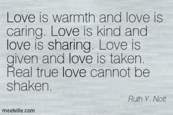 Ruth Y. Nott love quote