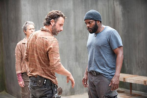 Chad L. Coleman as Tyreese on AMC 'The Walking Dead' with Andrew Lincoln as Rick Grimes