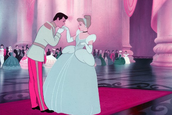 Disney princess love lessons: a makeover will make a guy notice you Cinderella dancing with Prince Charming