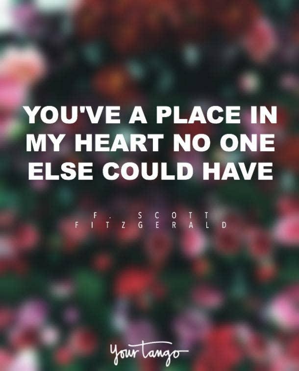 F Scott Fitzgerald i love you quote