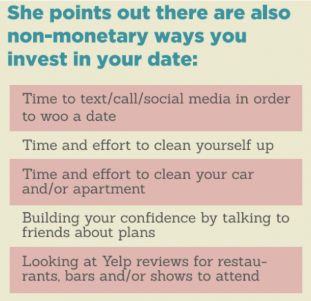Non-monetary investments in first dates