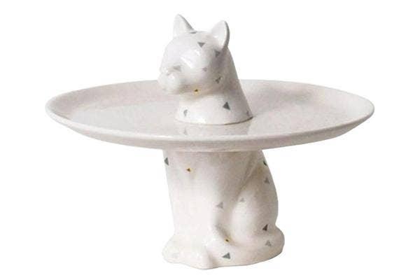 Menagerie-cat-plate, cat-jewelry-dish, cat-statue, cute-jewelry-dish