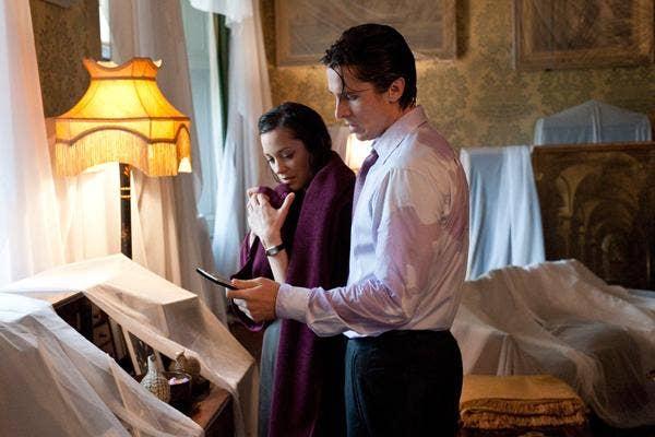 """Super Dysfunctional Superhero Couples: Batman (Bruce Wayne) and Talia Al-Ghul (Miranda Tate) in """"The Dark Knight Rises"""""""