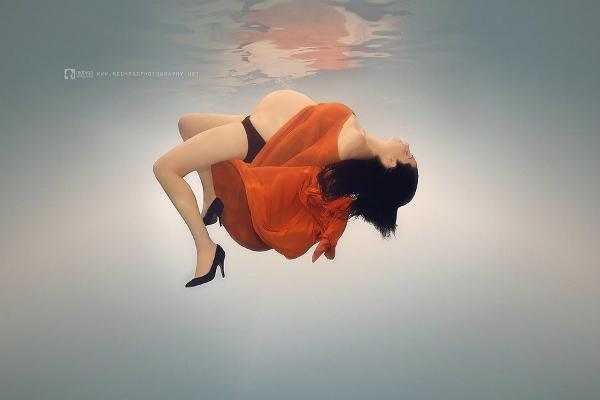 8. Serenely floating