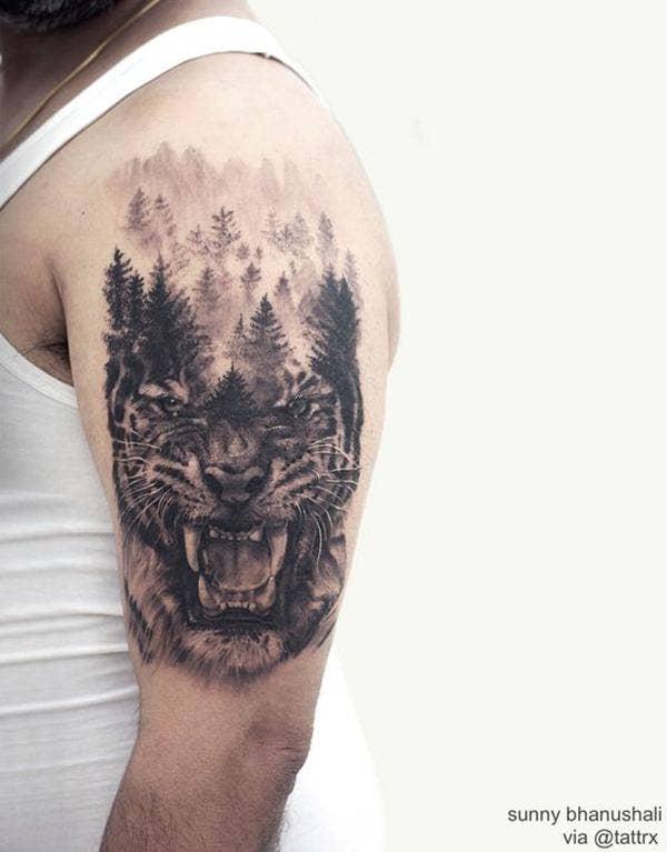 double exposure tattoo