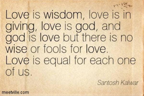 Santosh Kalwar love quote