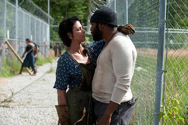 Chad L. Coleman as Tyreese on AMC 'The Walking Dead' with his girlfriend Karen