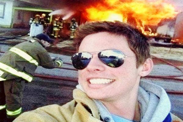 Disaster selfie