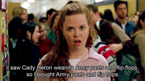 army pants and flip flops