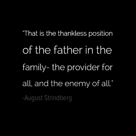 August Strindberg Inspirational Father's Day Quotes