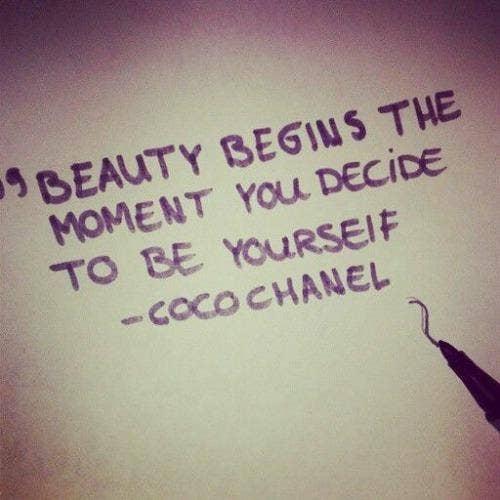 Coco Chanel self-esteem body quotes