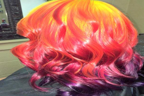 Kaleidoscope of color hair.