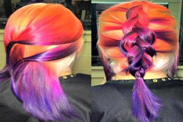 Color melt hair.