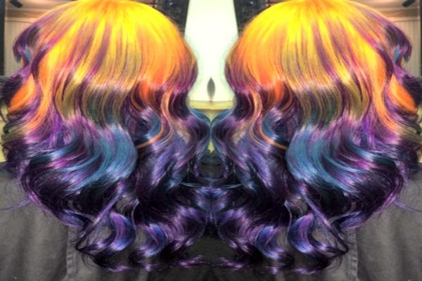 Midnight fire hair.