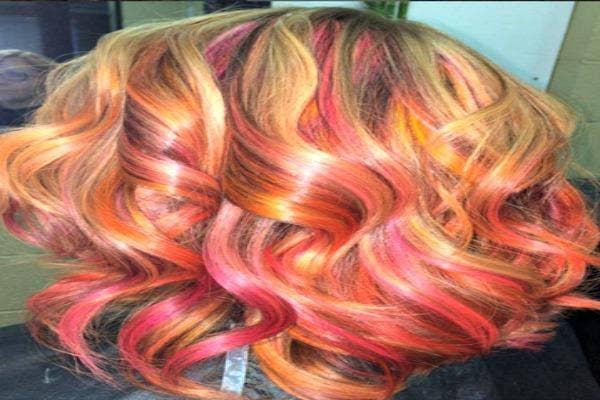 Sherbet sunset hair.