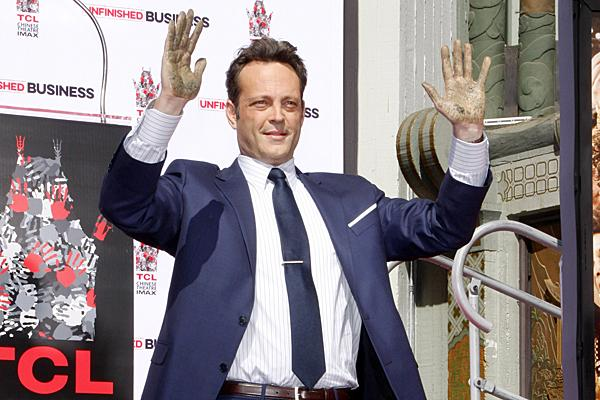 Vince Vaughn at his Hollywood Walk of Fame ceremony Chinese Theater handprint ceremony