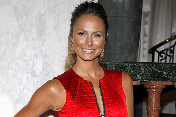 stacy keibler red dress brown hair