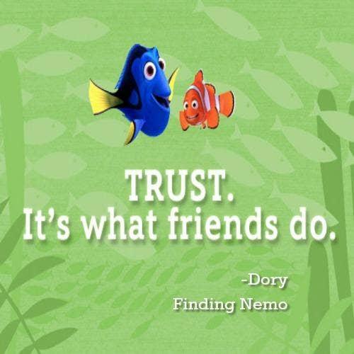 Finding Nemo inspirational Pixar quotes