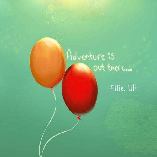 UP inspirational Pixar quotes