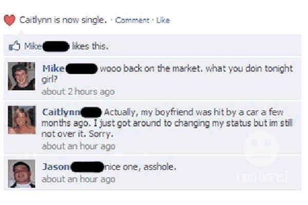 Never Facebook friend a widow