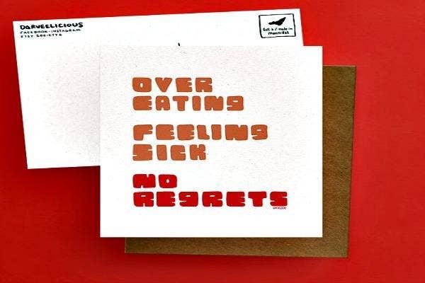 No regrets card.