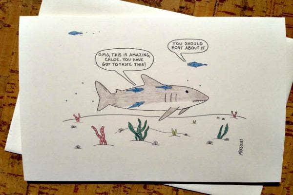 Fish talk under the ocean.