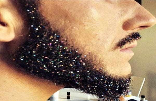 Side profile of a Glitter Beard.