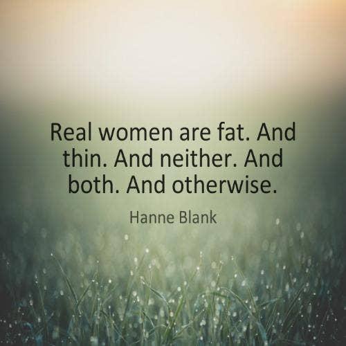 Hanne Blank self-esteem body quotes