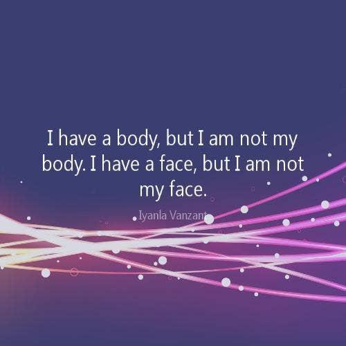 Iyanla Vanzant self-esteem body quotes
