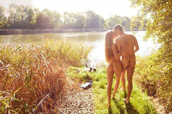 Couple in nature.