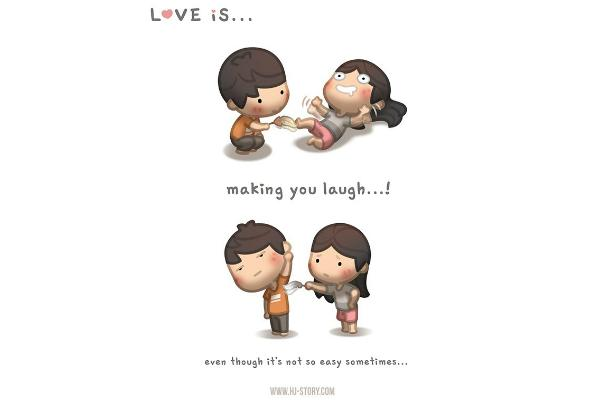 Love is laughing.