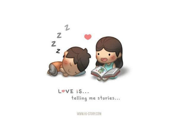 Love is storytelling.