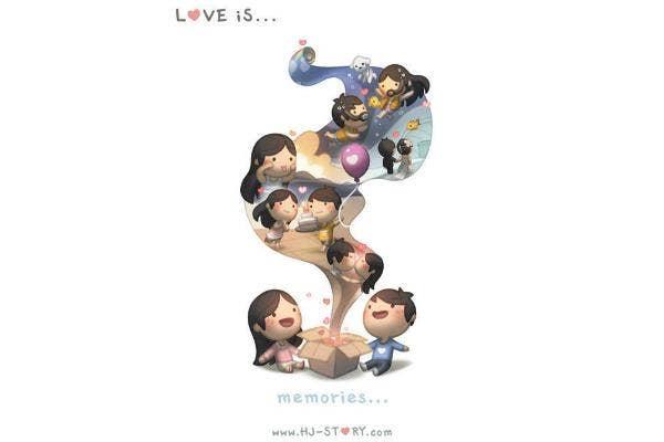 Love is memories.