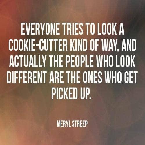 Meryl Streep self-esteem body quotes