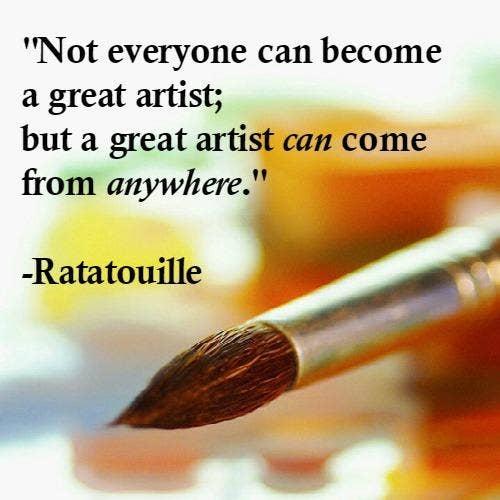 Ratatouille inspirational Pixar quotes