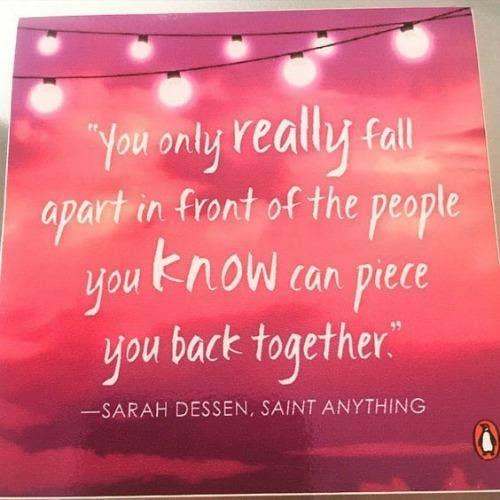 Sarah Dessen friendship quotes