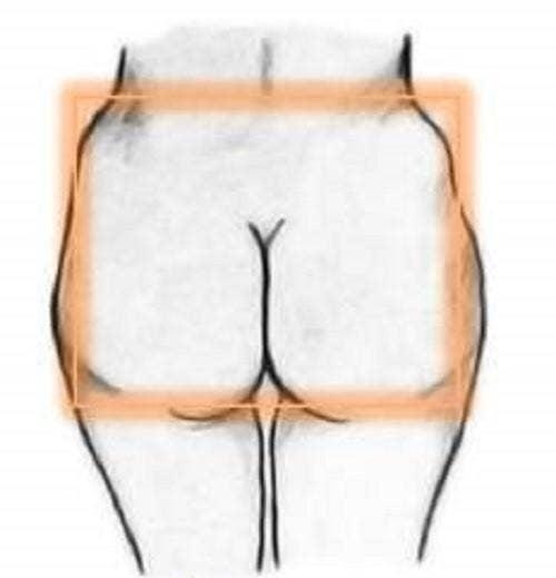Square butt shape