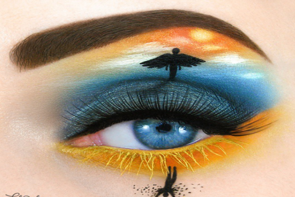 The flight and fall of Icarus as eye-art.