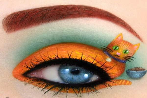 Orange cat eye-art.