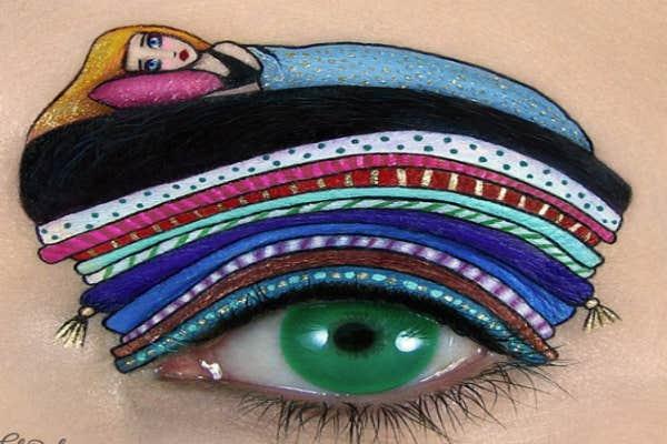The princess and the pea eye-art.