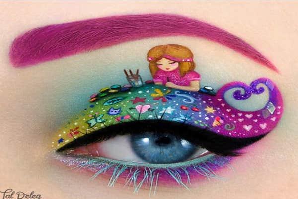 Child as artist eye-art.