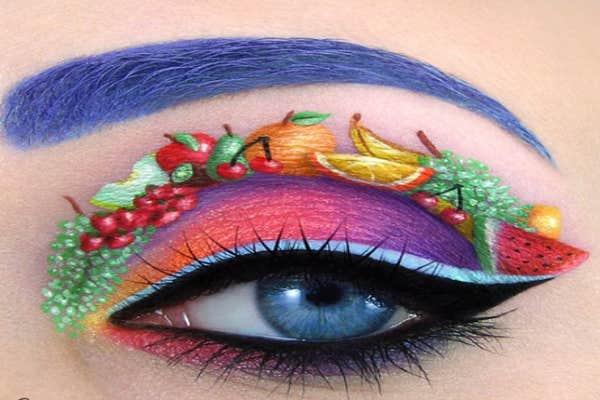 Fruity eye-art.