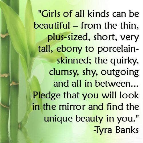 Tyra Banks self-esteem body quotes