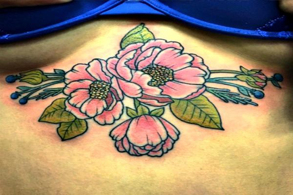 Lovely flowered tattoo.
