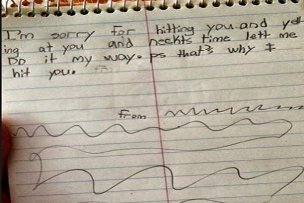 Angry letter.