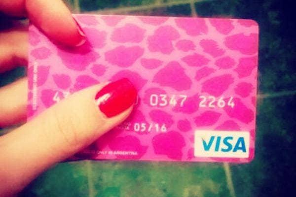 Pretty Visa card
