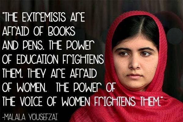 11 Motivational Malala Yousafzai Quotes That Celebrate Women Yourtango