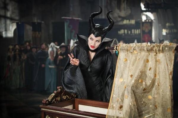 angelina jolie looking up maleficient