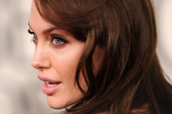 angelina jolie brown hair